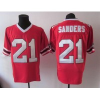 1992 Mitchell And Ness Falcons #21 Deion Sanders Red Throwback Stitched NFL Jersey