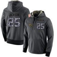 NFL Men's Nike Tennessee Titans #25 Adoree' Jackson Stitched Black Anthracite Salute to Service Player Performance Hoodie