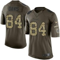Nike Tennessee Titans #84 Corey Davis Green Men's Stitched NFL Limited Salute To Service Tank Top Jersey