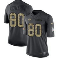 Youth Nike Tampa Bay Buccaneers #80 O. J. Howard Black Stitched NFL Limited 2016 Salute to Service Jersey