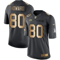 Youth Nike Tampa Bay Buccaneers #80 O. J. Howard Black Stitched NFL Limited Gold Salute to Service Jersey