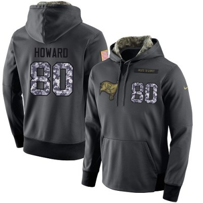 NFL Men's Nike Tampa Bay Buccaneers #80 O. J. Howard Stitched Black Anthracite Salute to Service Player Performance Hoodie