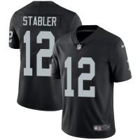 Nike Oakland Raiders #12 Kenny Stabler Black Team Color Men's Stitched NFL Vapor Untouchable Limited Jersey