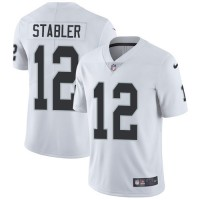 Nike Oakland Raiders #12 Kenny Stabler White Men's Stitched NFL Vapor Untouchable Limited Jersey