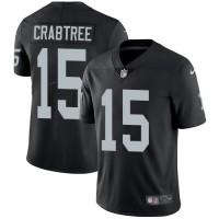 Nike Oakland Raiders #15 Michael Crabtree Black Team Color Men's Stitched NFL Vapor Untouchable Limited Jersey