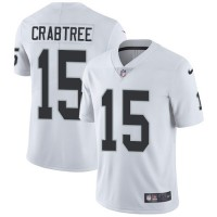 Nike Oakland Raiders #15 Michael Crabtree White Men's Stitched NFL Vapor Untouchable Limited Jersey