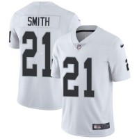 Nike Oakland Raiders #21 Sean Smith White Men's Stitched NFL Vapor Untouchable Limited Jersey