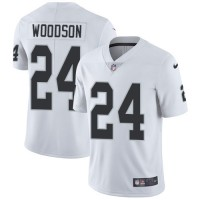 Nike Oakland Raiders #24 Charles Woodson White Men's Stitched NFL Vapor Untouchable Limited Jersey