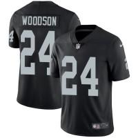 Nike Oakland Raiders #24 Charles Woodson Black Team Color Men's Stitched NFL Vapor Untouchable Limited Jersey