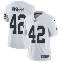 Nike Oakland Raiders #42 Karl Joseph White Men's Stitched NFL Vapor Untouchable Limited Jersey