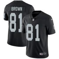 Nike Oakland Raiders #81 Tim Brown Black Team Color Men's Stitched NFL Vapor Untouchable Limited Jersey