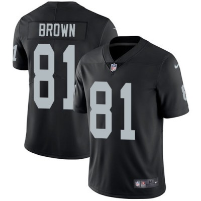 Nike Oakland Raiders #81 Tim Brown Black Team Color Men's Stitched NFL Vapor Untouchable Limited Jersey