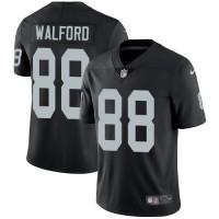 Nike Oakland Raiders #88 Clive Walford Black Team Color Men's Stitched NFL Vapor Untouchable Limited Jersey