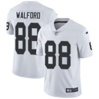 Nike Oakland Raiders #88 Clive Walford White Men's Stitched NFL Vapor Untouchable Limited Jersey