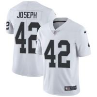 Youth Nike Oakland Raiders #42 Karl Joseph White Stitched NFL Vapor Untouchable Limited Jersey