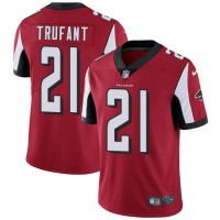 Nike Atlanta Falcons #21 Desmond Trufant Red Team Color Men's Stitched NFL Vapor Untouchable Limited Jersey