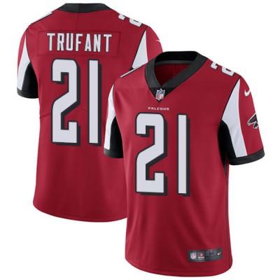 Nike Atlanta Falcons #21 Desmond Trufant Red Team Color Men's Stitched NFL Vapor Untouchable Limited Jersey