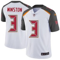 Youth Nike Tampa Bay Buccaneers #3 Jameis Winston White Stitched NFL Vapor Untouchable Limited Jersey