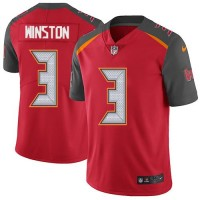 Youth Nike Tampa Bay Buccaneers #3 Jameis Winston Red Team Color Stitched NFL Vapor Untouchable Limited Jersey