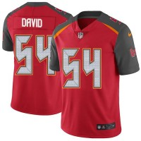 Youth Nike Tampa Bay Buccaneers #54 Lavonte David Red Team Color Stitched NFL Vapor Untouchable Limited Jersey