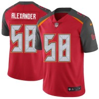 Youth Nike Tampa Bay Buccaneers #58 Kwon Alexander Red Team Color Stitched NFL Vapor Untouchable Limited Jersey