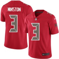 Youth Nike Tampa Bay Buccaneers #3 Jameis Winston Red Stitched NFL Limited Rush Jersey
