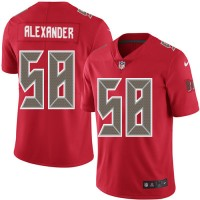 Youth Nike Tampa Bay Buccaneers #58 Kwon Alexander Red Stitched NFL Limited Rush Jersey