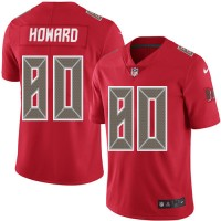 Youth Nike Tampa Bay Buccaneers #80 O. J. Howard Red Stitched NFL Limited Rush Jersey