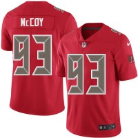 Youth Nike Tampa Bay Buccaneers #93 Gerald McCoy Red Stitched NFL Limited Rush Jersey