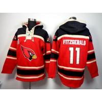 Arizona Cardinals #11 Larry Fitzgerald Red Sawyer Hooded Sweatshirt NFL Hoodie