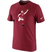 Arizona Cardinals Larry Fitzgerald Nike Silhouette T-Shirt Red
