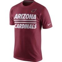 Arizona Cardinals Nike Team Stripe T-Shirt Red
