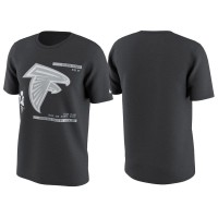 Atlanta Falcons Anthracite Super Bowl LI Bound Media Night T-Shirt