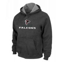 Atlanta Falcons Authentic Logo Pullover Hoodie Dark Grey