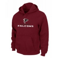 Atlanta Falcons Authentic Logo Pullover Hoodie Red