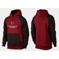 Atlanta Falcons Critical Victory Pullover Hoodie Burgundy Red & Black