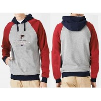 Atlanta Falcons Critical Victory Pullover Hoodie Grey & Red