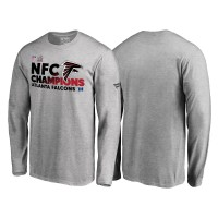 Atlanta Falcons Gray 2016 NFC Conference Champions Trophy Collection Long Sleeve T-Shirt