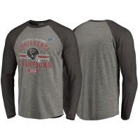 Atlanta Falcons Gray 2016 NFC Conference Champions Vintage Snap Long Sleeve T-Shirt