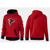 Atlanta Falcons Logo Pullover Hoodie Red & Black