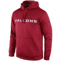 Atlanta Falcons Nike KO Wordmark Performance Hoodie Red