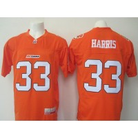 BC Lions #33 Andrew Harris Orange Stitched CFL Jersey
