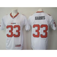 BC Lions #33 Andrew Harris White Stitched CFL Jersey