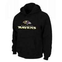 Baltimore Ravens Authentic Logo Pullover Hoodie Black
