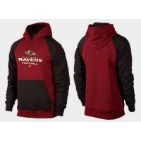 Baltimore Ravens Critical Victory Pullover Hoodie Burgundy Red & Black