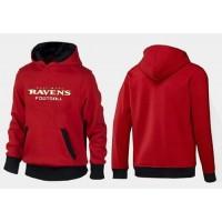 Baltimore Ravens English Version Pullover Hoodie Red & Black