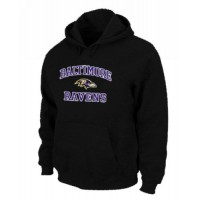 Baltimore Ravens Heart & Soul Pullover Hoodie Black