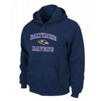 Baltimore Ravens Heart & Soul Pullover Hoodie Dark Blue