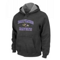 Baltimore Ravens Heart & Soul Pullover Hoodie Dark Grey
