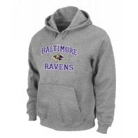Baltimore Ravens Heart & Soul Pullover Hoodie Grey